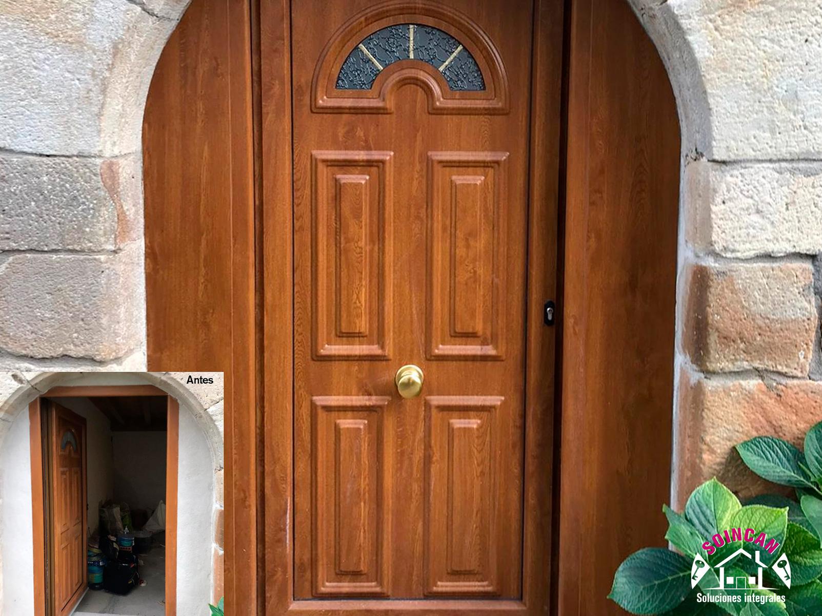 Forro de PVC alrededor de puertas